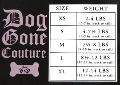 Juicy Couture Size Chart