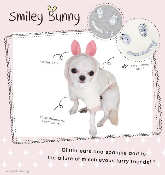 Louisdog Smiley Bunny Hoodie