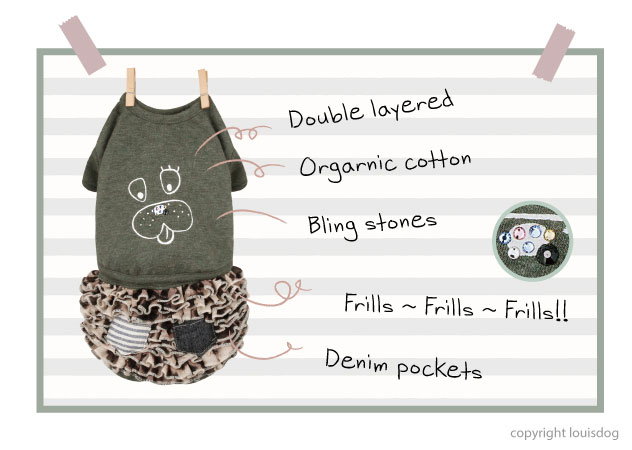 Louisdog Organic Woof N Meow Dress