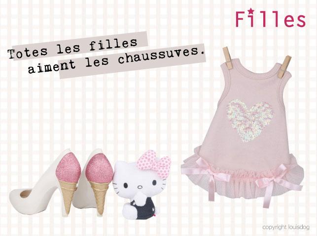Louisdog French Heart Dress