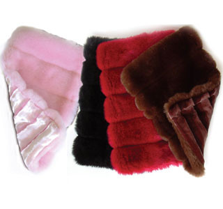 Faux Mink Carrier Blanket & Throw