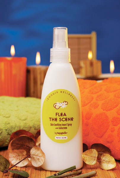 flea the scene skin soothing insect spray   funny fur