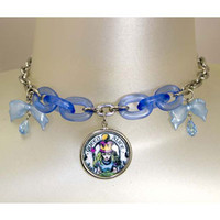 Queen Alice Lucite & Chain Necklace