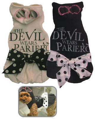 Devil Wears Pariero Dog Dress