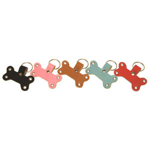 Buddy Belts Leather Bone Shape Key Fobs