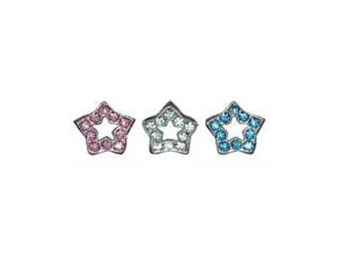 Rhinestone Star Sliders
