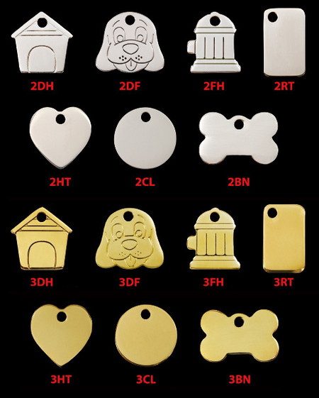 Flat Metal Dog ID Tags