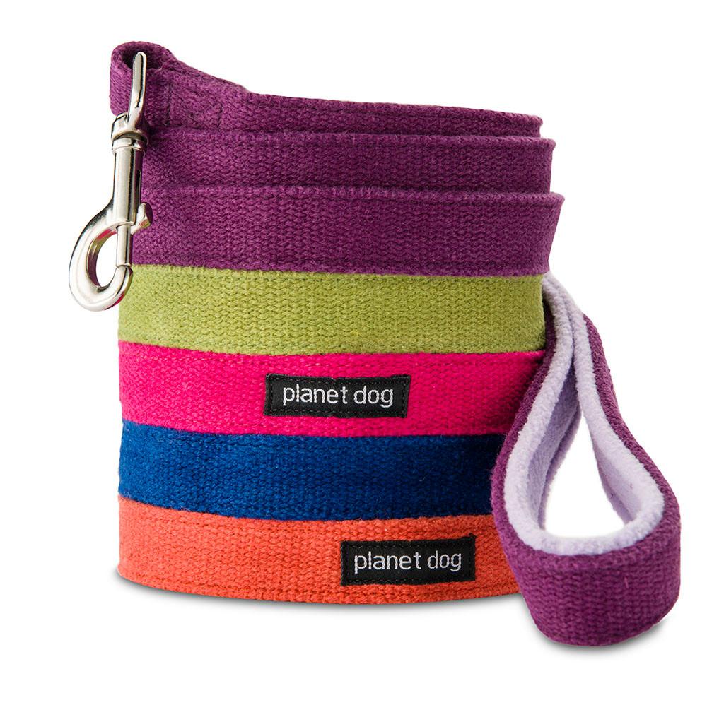 Planet Dog Hemp Dog Leash with Fleece-Lined Handle, Blue, Regular
