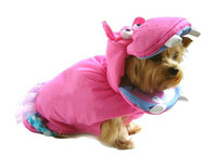 Pink Hippo Dog Costume