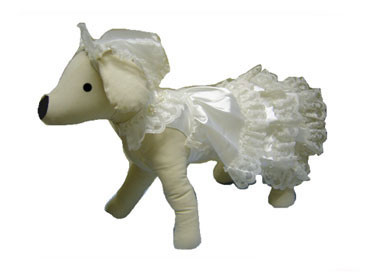 Wedding Dress Dog Costume