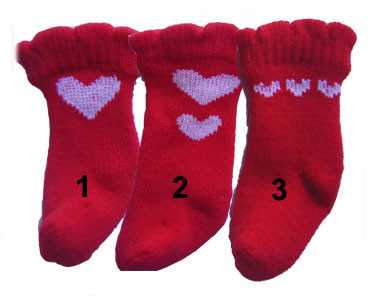 Red Heart Dog Socks