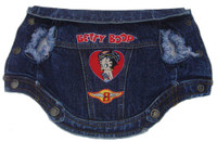 Betty Boop Denim Biker Jacket