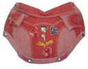 Betty Boop Red Denim Jacket
