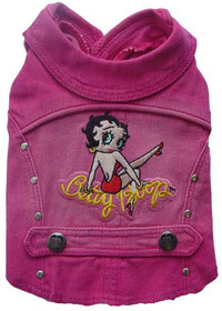 Betty Boop Pink Denim Jacket