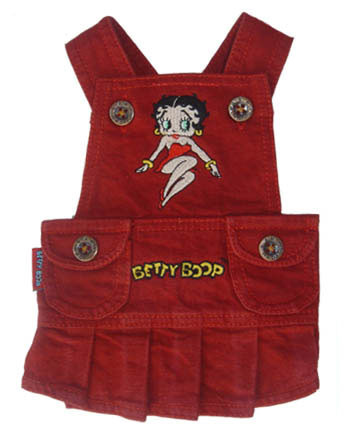 Betty Boop Red Overall Dress