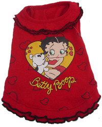 Betty Boop Heart Ruffle Dress
