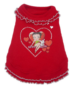 Betty Boop Red Ruffle Dress