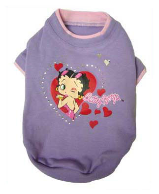 Betty Boop Blowing Hearts Tee