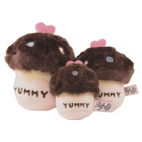 Chocolate Cupcake Dog Toy