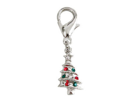 Christmas Tree D-Ring Dangler Charm