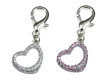 Tiff-Fou-Ny Heart D-Ring Dangler Charms