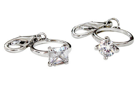 Diamond Ring D-Ring Dangler Charms