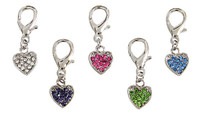 Heart D-Ring Dangler Charms