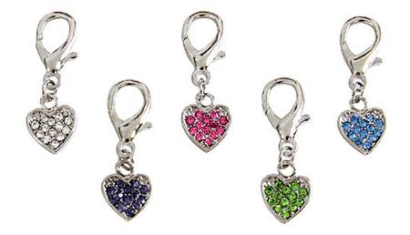 Heart D-Ring Dangler Charms