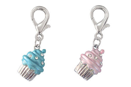 Luxe Cupcake D-Ring Dangler Charms
