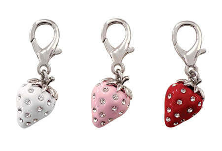 Strawberry D-Ring Dangler Charms