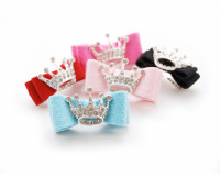 Swarovski Crown Ultrasuede Hair Bows