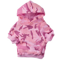 Pink Camo Dog Hoodie