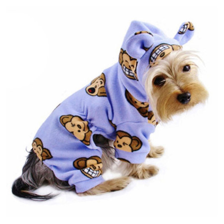 Silly Monkey Fleece Pajamas (Lavender)