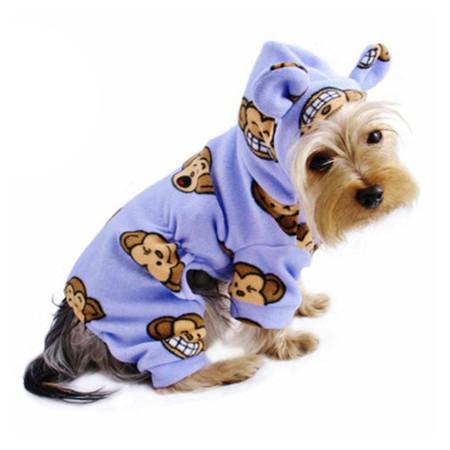 Silly Monkey Fleece Pajamas (Lavender)