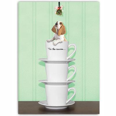 Basset Hound Holiday Card