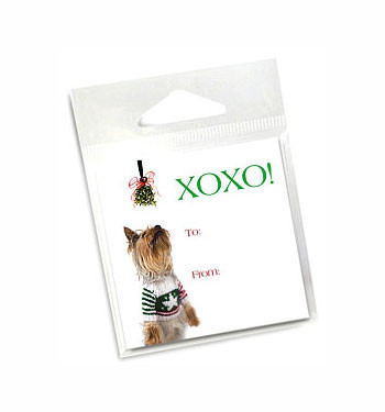 Yorkie Holiday Gift Tags