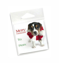 Jingle Puppy Holiday Gift Tags