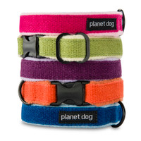 Planet Dog Natural Hemp Adjustable Collar