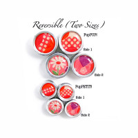 PupART! Pink Dottie Button Charm Set