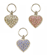 Crystal Pave Heart Collar Charm