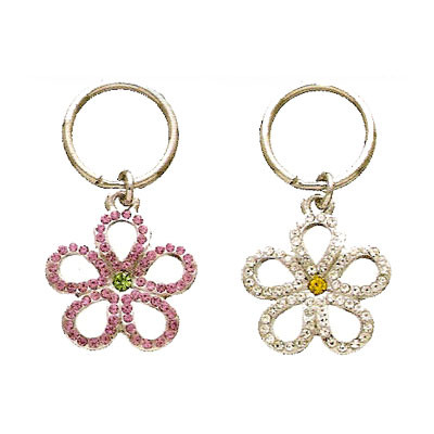 Open Crystal Flower Collar Charm