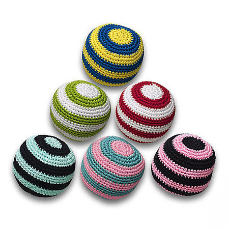 Crochet Striped Ball Dog Toy