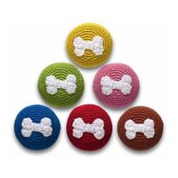 Crochet Bone Ball Dog Toy
