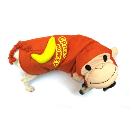 Crazy Monkey Dog Costume