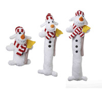 Snowman Loofa Dog Toys