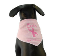 Bark for a Cure Dog Scarf