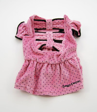 Juicy Couture Pink Dot Bow Dress (L)