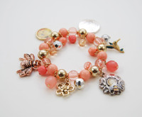 Pink Charmed Bracelet