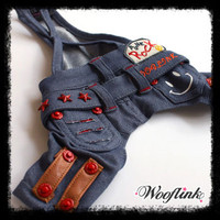 Wooflink Denim Dog Overall Pants