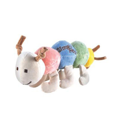 Maggie Organic Multicolor Caterpillar Dog Toy